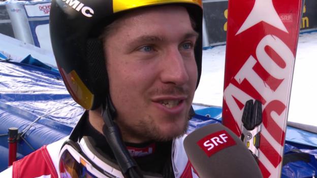 Video «Ski: RS Adelboden, Interview Marcel Hirscher» abspielen