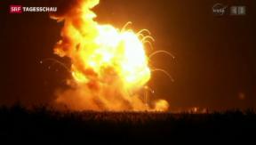 Video «Raketenexplosion ist Rückschlag für Raumfahrt» abspielen