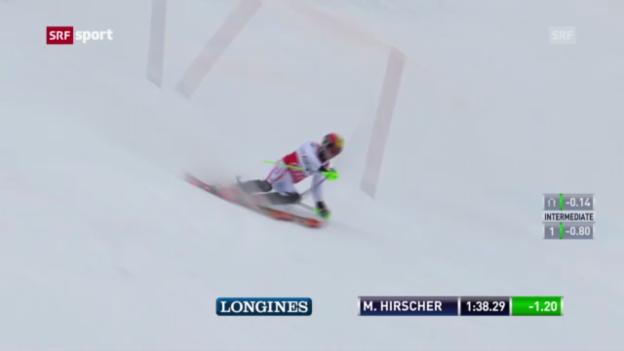 Video «Ski: Slalom der Männer in Adelboden» abspielen