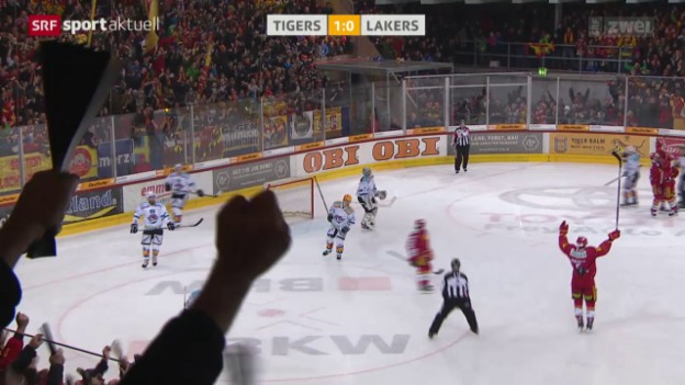 Video «Eishockey: Liga-Qualifikation, SCL Tigers - Lakers» abspielen