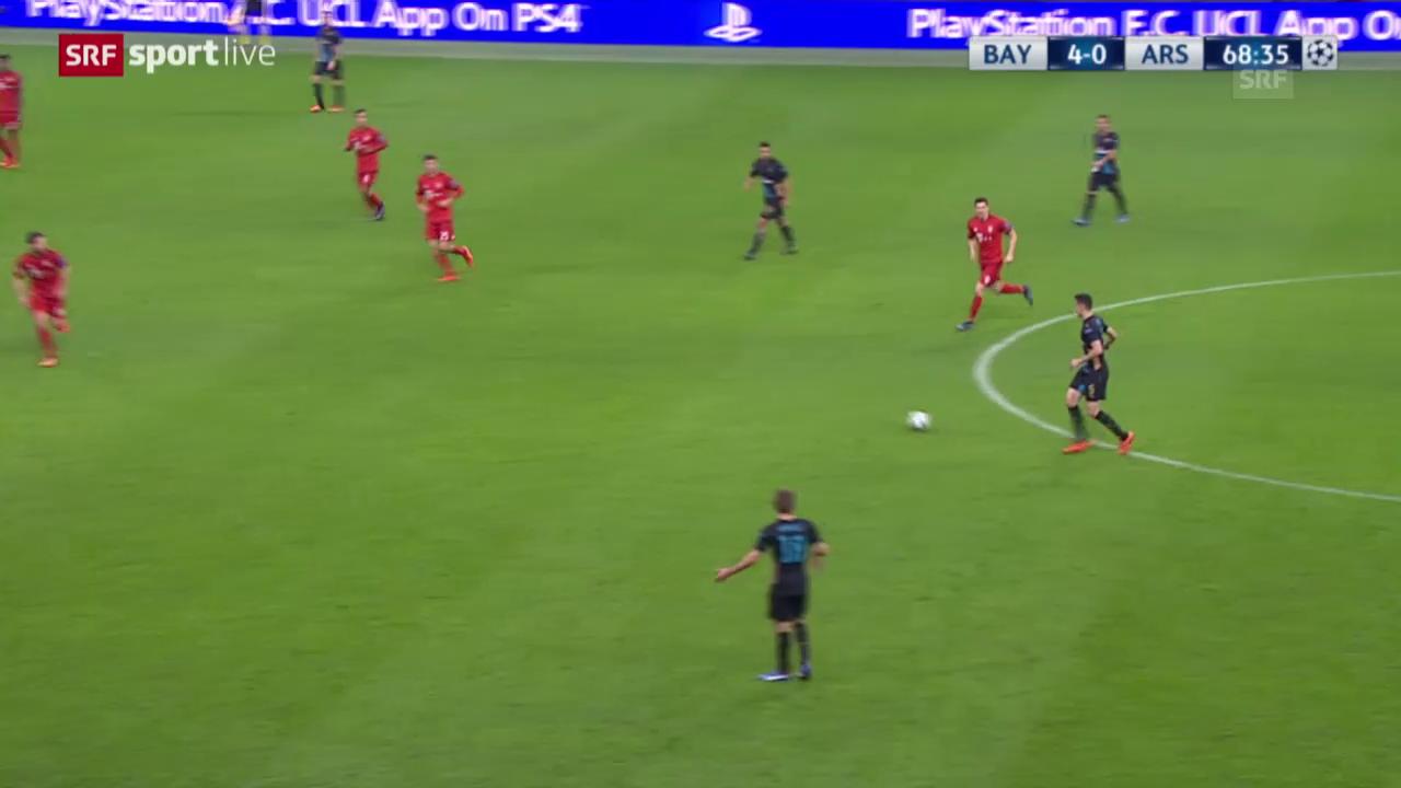 Fussball: Champions League, Bayern - Arsenal, 1:4 durch Giroud