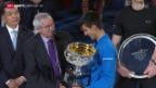 Video «Tennis, Australian Open: Die Dankesrede des Champions» abspielen