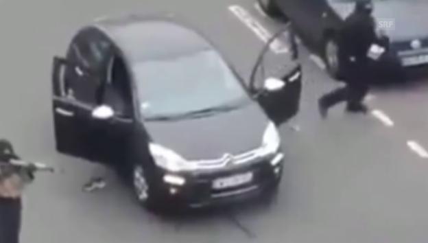 Video «Amateurvideo zeigt schiessende Attentäter» abspielen