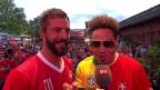 Video «Bligg und Sway: Zwei Musiker im Fussball-WM-Fieber» abspielen
