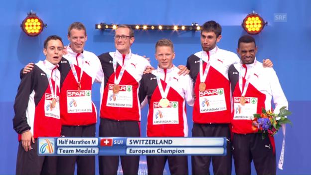 Video «Halbmarathon-Team ist Europameister» abspielen