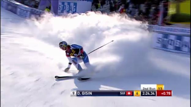 Video «Ski: Der 2. Lauf von Dominique Gisin beim Riesenslalom in Maribor» abspielen