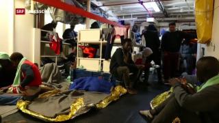 Video «Lage auf Flüchtlingsschiffen zunehmend schlechter» abspielen