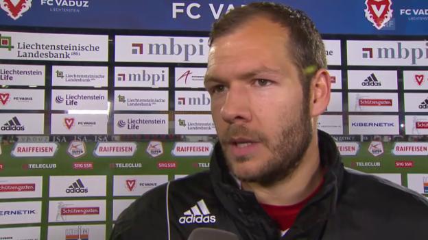 Video «Fussball: Super League, 26. Runde, Vaduz - YB, Interview Burgmeier» abspielen