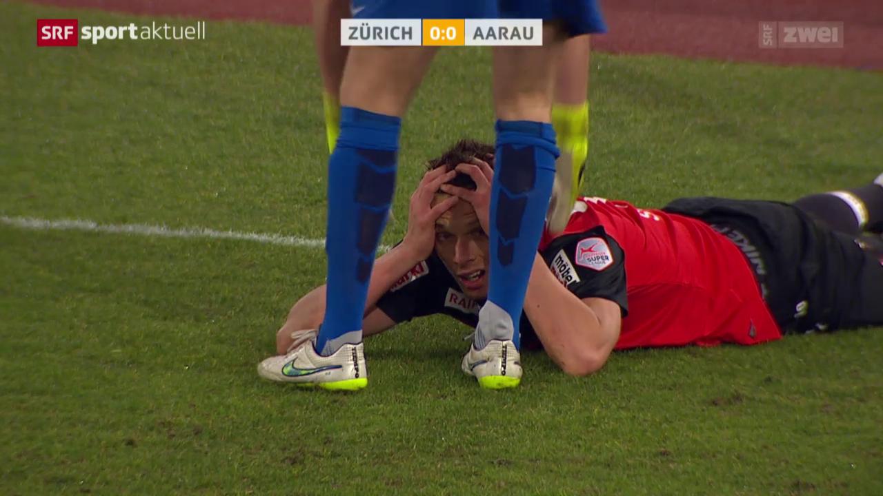 Fussball: Super League, FCZ-Aarau, Chance Sliskovic