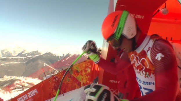 Video «Ski Alpin, 1. Abfahrtstraining, Fahrt von Sandro Viletta («sotschi direkt», 6.2.2014)» abspielen