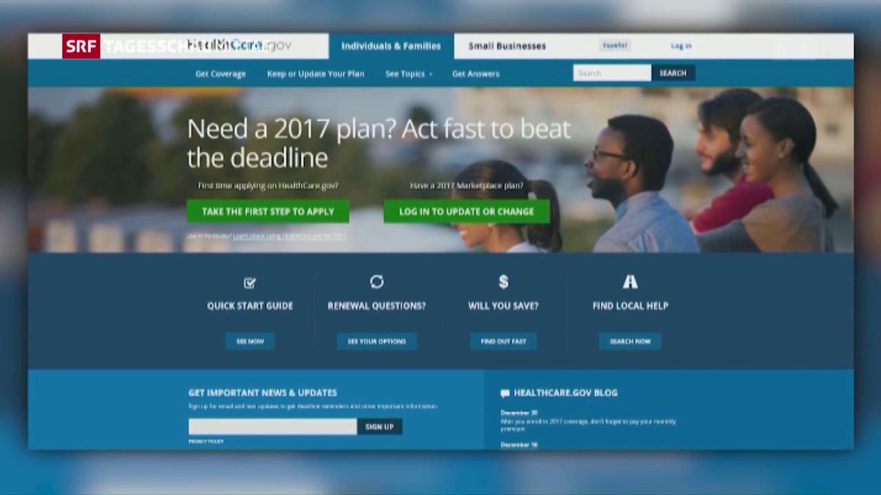 «Obamacare» vor dem Ende