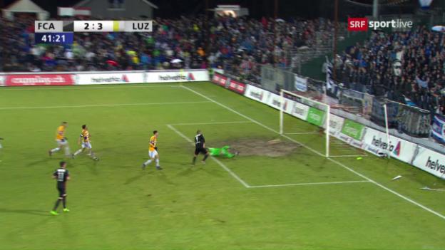 Video «Spektakel pur: Die 8 Tore bei Aarau - Luzern» abspielen