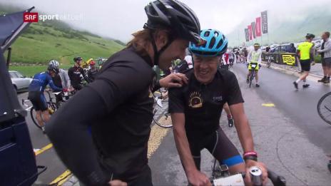 Video «Rad: Cancellara beim Event «Chasing Cancellara»» abspielen