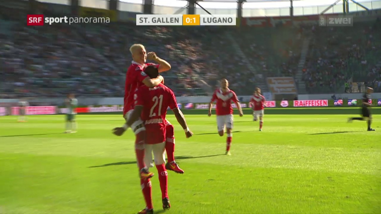 Fussball: Super League, St. Gallen - Lugano