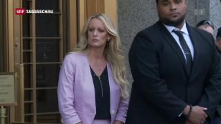 Video «Skandal am Trumps mutmassliche Schweigegeld-Zahlung» abspielen