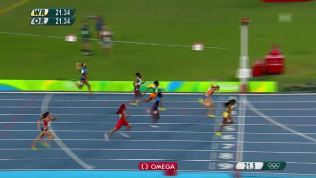 Video «Thompsons Gold-Lauf über 200 m» abspielen