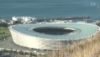 Video «Hochgeklappte Sitze in Südafrikas WM-Stadien» abspielen