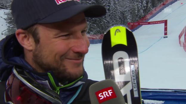 Video «Ski: Lauberhorn-Sieger Svindal im Interview» abspielen