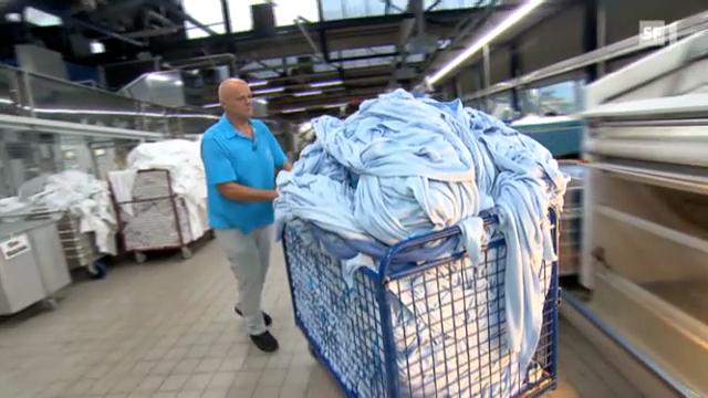 Hochmoderne Wäscherei in der Schweiz