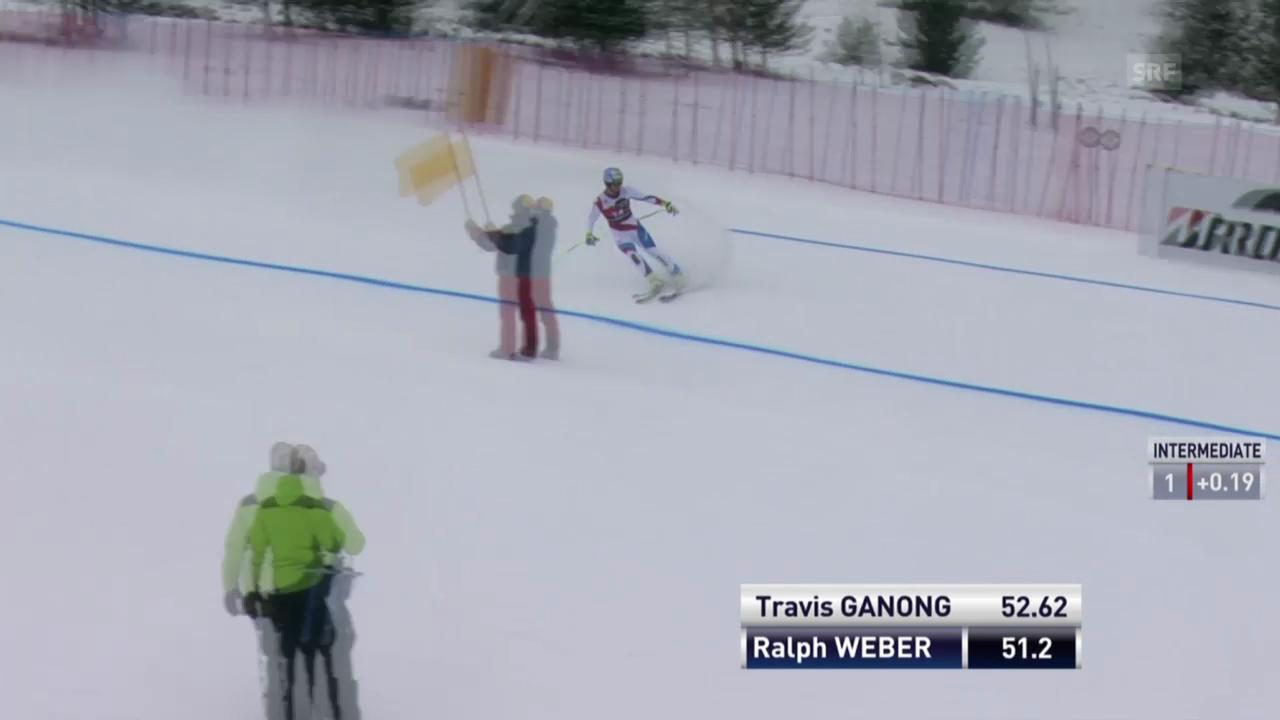 Ski: Abfahrt Männer Santa Caterina, Ralph Weber wird abgewunken
