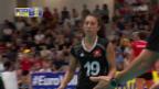 Video «Die Schweizer Volleyballerinnen bezahlen gegen Kroatien Lehrgeld» abspielen