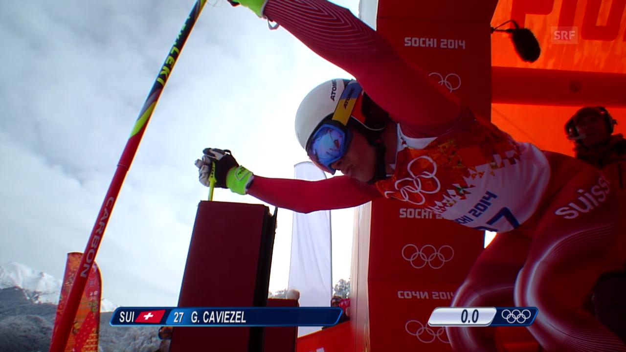 Ski: Riesenslalom Männer Sotschi, 1. Lauf von Gino Caviezel (sotschi direkt, 19.2.14)