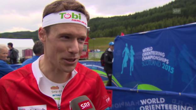 Video «OL: WM in Inverness, Interview mit Daniel Hubmann» abspielen