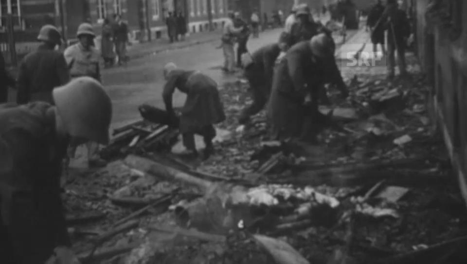 Bomben fallen auf Basel und Zürich 1945