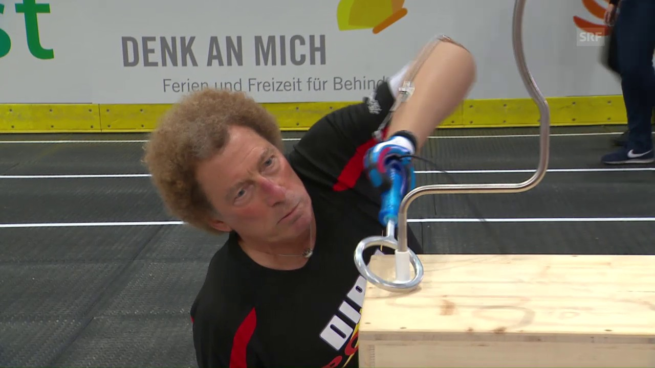 Armprothesen-Parcours: das Finale
