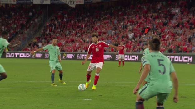 Video «Mit Gefühl: Mehmedi mit dem 2:0» abspielen