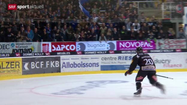 Video «Eishockey: Freiburg - Zug» abspielen