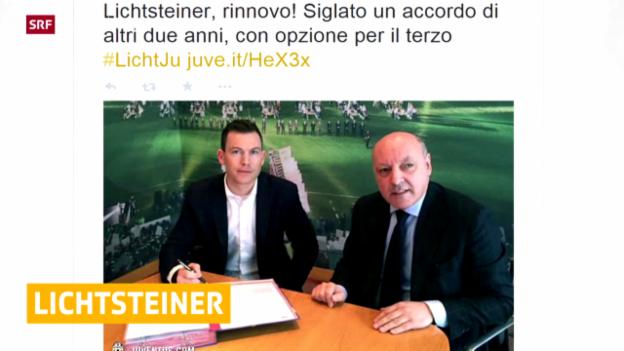 Video «Fussball: Lichtsteiner bleibt bei Juve («sportaktuell»)» abspielen