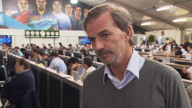 Video «Tennis: ATP Finals, Heinz Günthardt über das Forfait von Roger Federer» abspielen