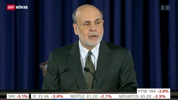Video «Bernanke kündigt lockerere Geldpolitik an» abspielen