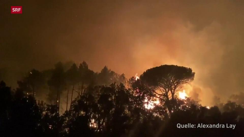 Brände im Süden Frankreichs