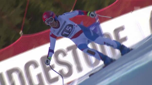 Video «Ski alpin: Weltcup Frauen, Super-G Garmisch, Fahrt Gisin» abspielen
