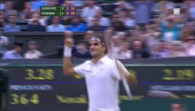 Video «Wimbledon-Halbfinal: Highlights Djokovic - Federer («sportlive»)» abspielen