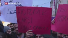Video «Referendumsgegner protestieren in Türkei» abspielen