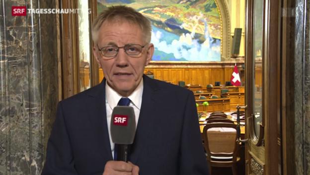 Video «Einschätzungen aus dem Bundeshaus von Hanspeter Trütsch» abspielen