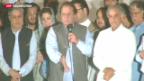 Video «Sharif gewinnt Parlamentswahlen in Pakistan» abspielen