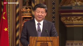 Video «Roter Teppich für Chinas Präsident Xi in London» abspielen
