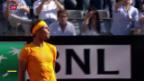 Video «Nadal schlägt Djokovic im Halbfinal von Rom» abspielen