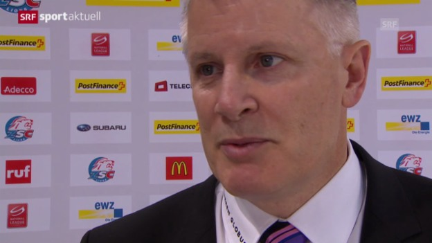 Video «Eishockey: Die ZSC Lions nach dem 1. Playoff-Halbfinalspiel» abspielen