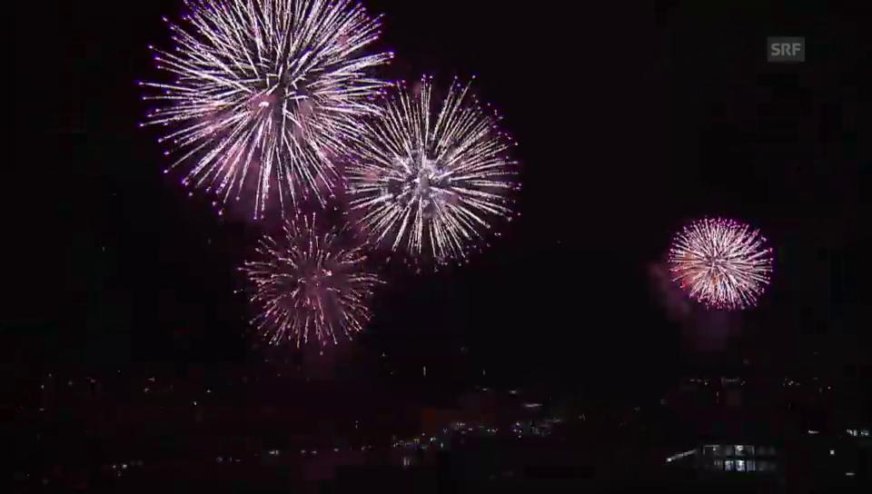 Das Feuerwerk in Basel