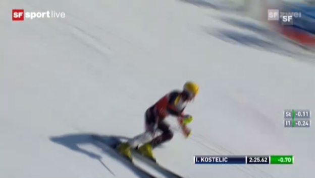 Video «Super-Kombi: Slalom von Kostelic («sportlive»)» abspielen