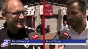 Laschar ir video «Bufatg optimistics: Trenaders da Domat e Tusaun avant il gieu.»