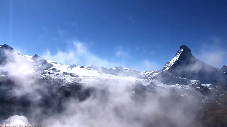 Zeitraffer der Hochnebelschwaden in Zermatt/VS, 10. Oktober, Debby Ronsdorf