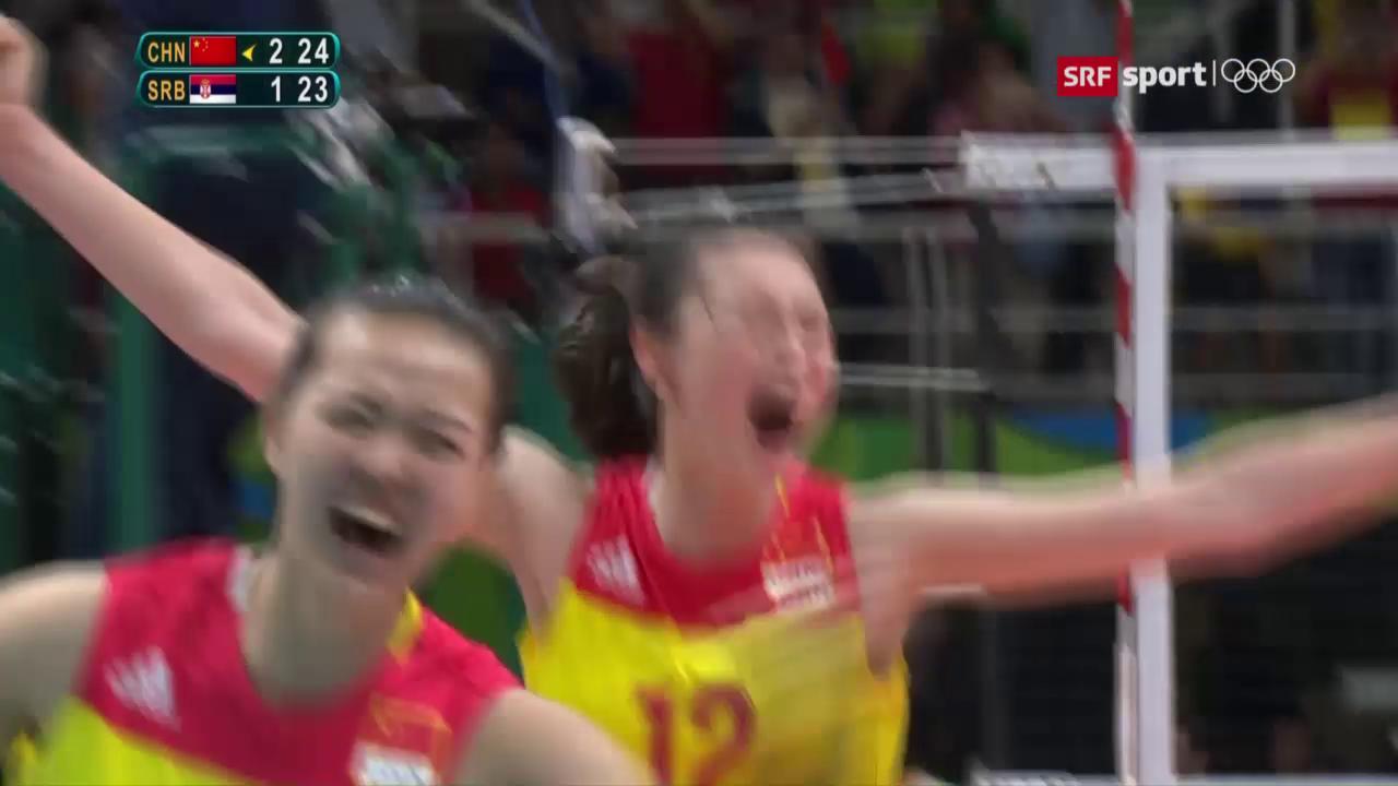 Chinesinnen gewinnen Volleyball-Gold