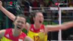 Video «Chinesinnen gewinnen Volleyball-Gold» abspielen