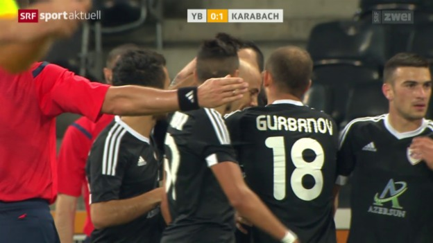 Video «Fussball: Europa League, YB - Karabach» abspielen